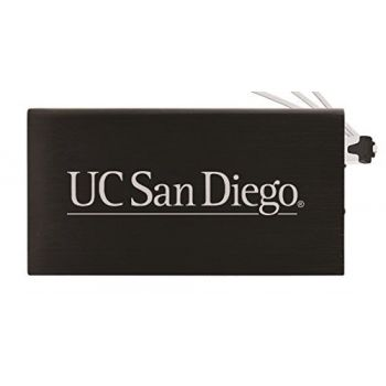 8000 mAh Portable Cell Phone Charger-University of California, San Diego-Black