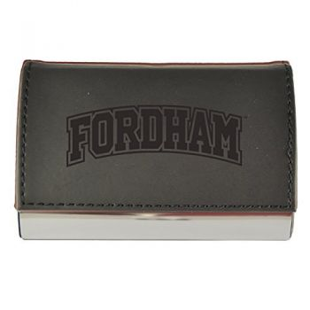 Velour Business Cardholder-Fordham University-Black
