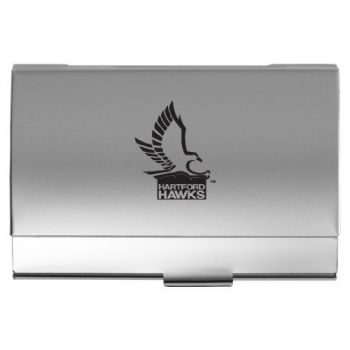 University of Hartford - Two-Tone Business Card Holder - Silver