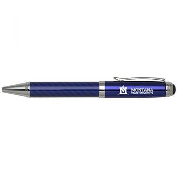 Montana State University -Carbon Fiber Ballpoint Pen-Blue