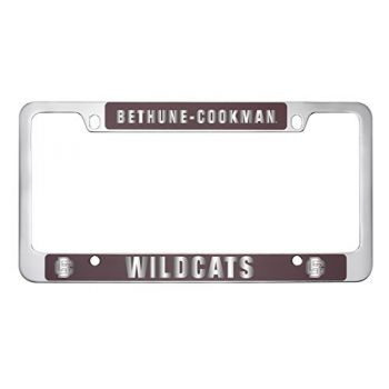 Bethune-Cookman University-Metal License Plate Frame-Burgundy