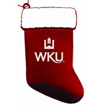 Western Kentucky University - Christmas Holiday Stocking Ornament - Red