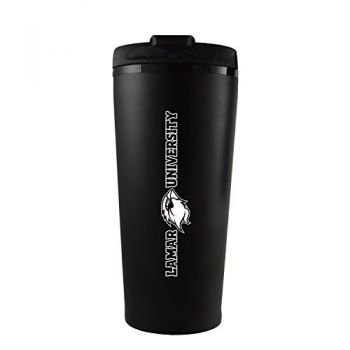 Lamar University-16 oz. Travel Mug Tumbler-Black