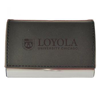 Velour Business Cardholder-Loyola University Chicago-Black