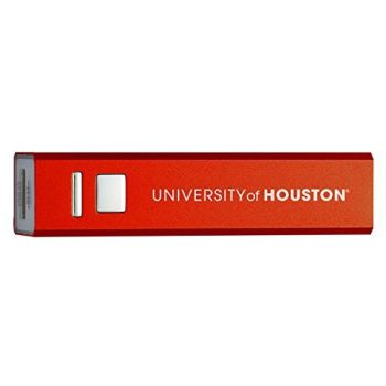 University of Houston - Portable Cell Phone 2600 mAh Power Bank Charger - Red