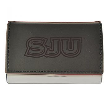 Velour Business Cardholder-Saint Joseph's university-Black