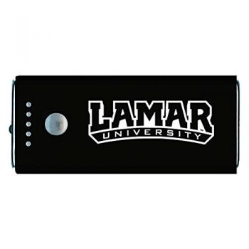 Lamar University-Portable Cell Phone 5200 mAh Power Bank Charger -Black