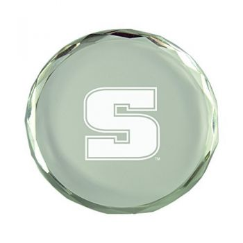 Slippery Rock University-Crystal Paper Weight