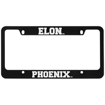 Elon University -Metal License Plate Frame-Black
