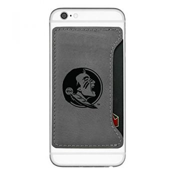 Florida State University-Cell Phone Card Holder-Grey
