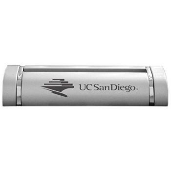 University of San Diego-Desk Business Card Holder -Silver