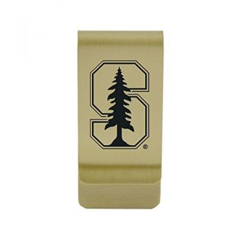 Spelman College|Money Clip with Contemporary Metals Finish|Solid Brass|High Tension Clip to Securely Hold Cash, Cards and ID's|Silver