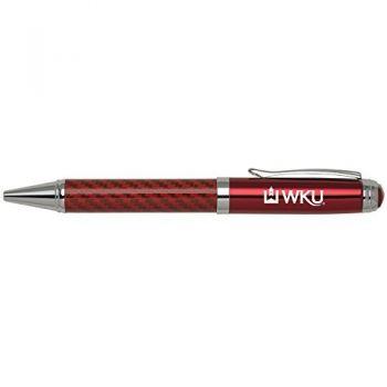 Western Kentucky University -Carbon Fiber Ballpoint Pen-Red