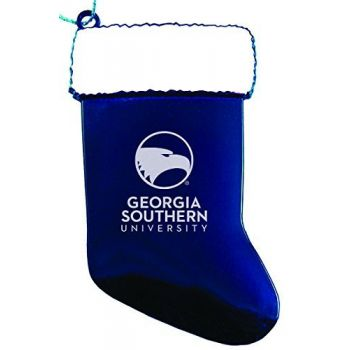 Georgia Southern University - Christmas Holiday Stocking Ornament - Blue