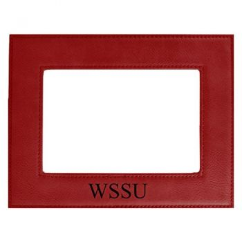 Winston-Salem State University-Velour Picture Frame 4x6-Red