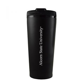 Alcorn State University -16 oz. Travel Mug Tumbler-Black