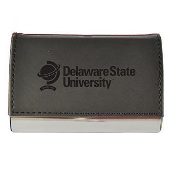 Velour Business Cardholder-Delaware State University-Black