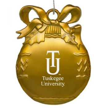 Tuskegee University - Pewter Christmas Tree Ornament - Gold