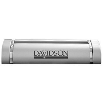 Davidson College-Desk Business Card Holder -Silver