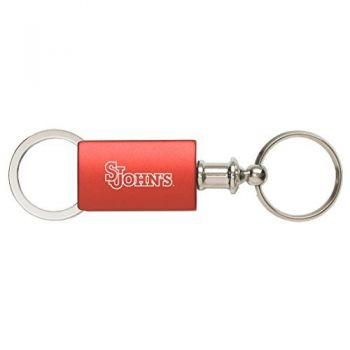 Saint John's University - Anodized Aluminum Valet Key Tag - Red