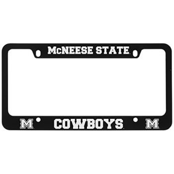 McNeese State University-Metal License Plate Frame-Black