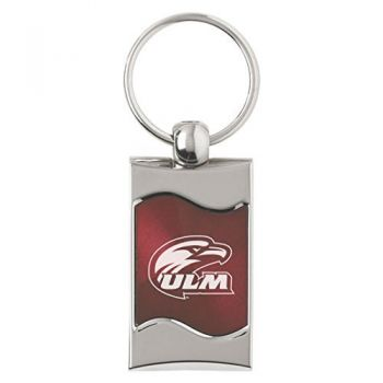 University of Louisiana at Monroe - Wave Key Tag - Burgundy
