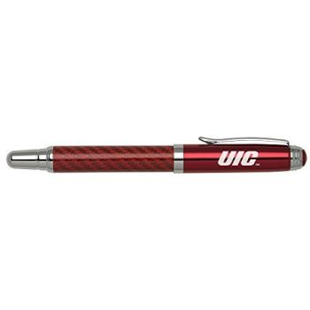 University of Illinois at Chicago - Carbon Fiber Rollerball Pen - Red