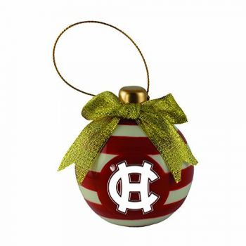 College of the Holy Cross-Christmas Bulb Ornament