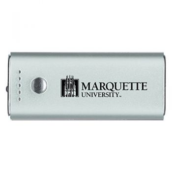 Marquette University-Portable Cell Phone 5200 mAh Power Bank Charger -Silver