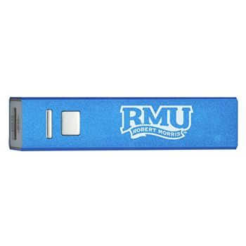 Robert Morris University - Portable Cell Phone 2600 mAh Power Bank Charger - Blue