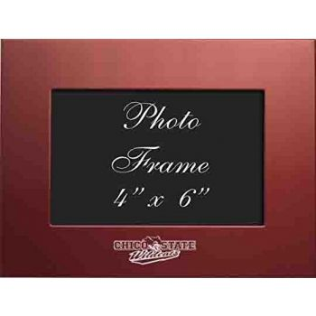 Cal State University Chico - 4x6 Brushed Metal Picture Frame - Red