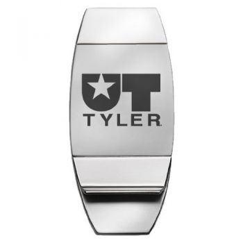 University of Texas at Tyler - Two-Toned Money Clip - Silver