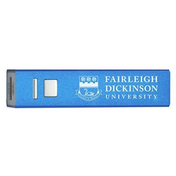 Fairleigh Dickinson University - Portable Cell Phone 2600 mAh Power Bank Charger - Blue