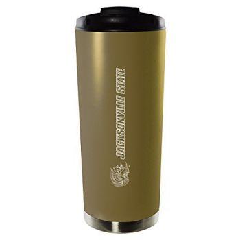 Jacksonville State University-16oz. Stainless Steel Vacuum Insulated Travel Mug Tumbler-Gold