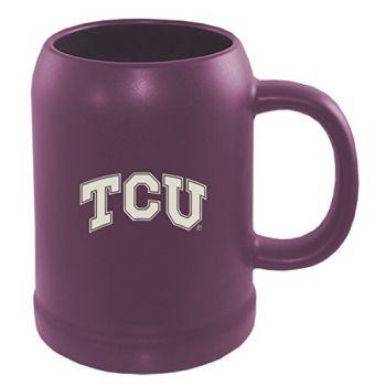 Texas Christian University -22 oz. Ceramic Stein Coffee Mug-Purple