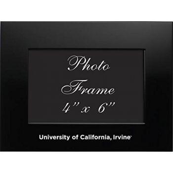University of California - Irvine - 4x6 Brushed Metal Picture Frame - Black