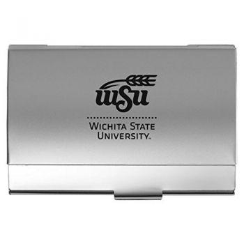 Wichita State University - Two-Tone Business Card Holder - Silver