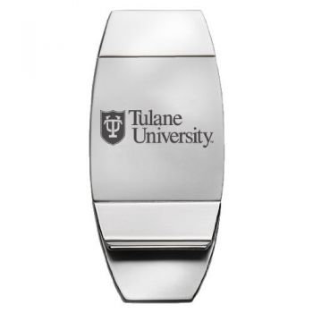 Tulane University - Two-Toned Money Clip - Silver