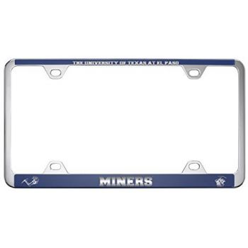 The University of Texas at El Paso -Metal License Plate Frame-Blue