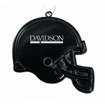 Davidson College - Christmas Holiday Football Helmet Ornament - Black