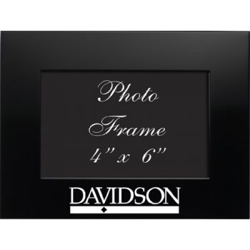 Davidson College - 4x6 Brushed Metal Picture Frame - Black