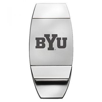 Brigham Young University - Two-Toned Money Clip - Silver