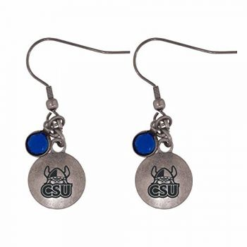 Cleveland State University-Frankie Tyler Charmed Earrings