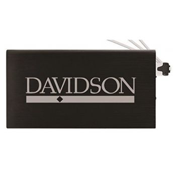8000 mAh Portable Cell Phone Charger-Davidson College-Black