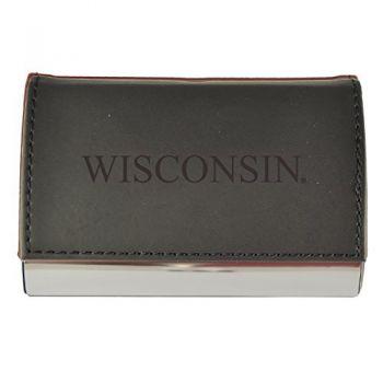 Velour Business Cardholder-University of Wisconsin -Black