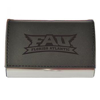 Velour Business Cardholder-Florida Atlantic University-Black