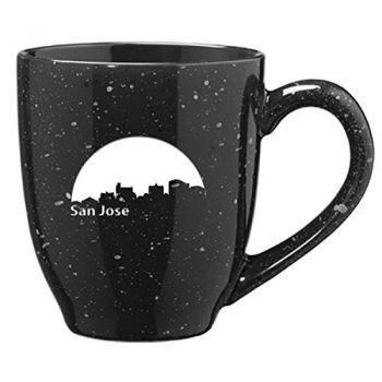 16 oz Ceramic Coffee Mug with Handle - San Jose City Skyline