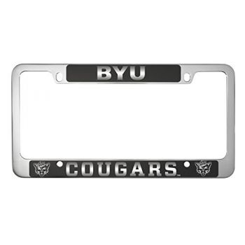 Brigham Young University -Metal License Plate Frame-Black