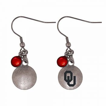 University of Oklahoma-Frankie Tyler Charmed Earrings