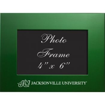 Jacksonville University - 4x6 Brushed Metal Picture Frame - Green